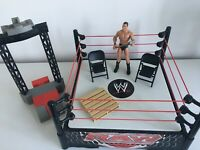 WWE Wrestling Ring RAW Mattel Spring Loaded BUNDLE Launcher Chairs Pallet Orton