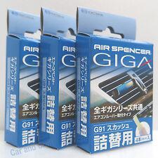 3 Boxes(12 REFILL) Eikosha GIGA Squash Air Spencer Freshener Scent Clip G91 Blue