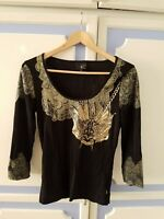 Authentic Roberto Cavalli Top, size M - VGC