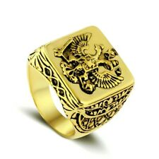 Double Eagle Gold Ring Size 09 Fashion Men's Women's Signet Ring Russian Empire