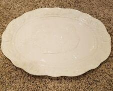 Serving Plate Large Turkey Thanksgiving White ceramic platter Chesapeake Himark
