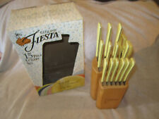 Fiesta 15 Piece Cutlery Knife Set Yellow