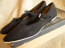 NOS NEW 6M 6 Vtg 60s Black Open-Aire Sumerettes canvas Sneaker Shoes MADE IN USA