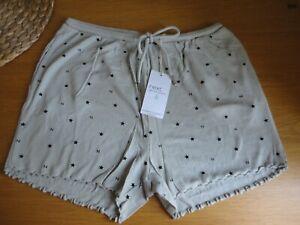 Next Womens Pyjama Shorts Grey Size 8 10 12 14 16 18 20 22 BNWT FREEPOST