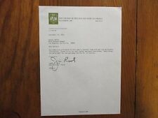 JIM  ROOT (Died-2003) Signed 1975 Personal Letter--William & Mary Football Coach
