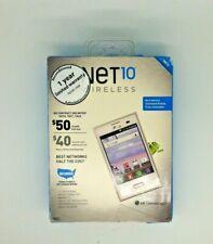 Net 10 LG Optimus Logic Cell Phone White