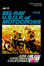 Vintage motocross-1978 USGP motocross poster- vintage motocross vmx