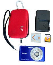 Sony Cyber-shot DSC-W530 14.1MP Digital Camera Purple 4GB Card, Case, And Charge