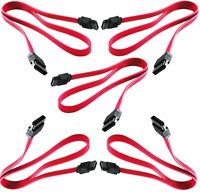 PTC 7 Pin SATA to SATA Serial ATA Data Cable for Hard Drive HDD 20 Inch 5 Pack