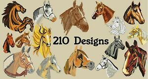 MACHINE EMBROIDERY DESIGNS - 210 HORSES EMBROIDERY DESIGNS - PES DST JEF FORMATS