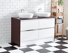 Bathroom Cabinet large double basin with double board painting top Vanity AR1004