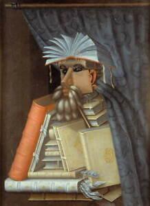 Giuseppe Arcimboldo The Librarian Poster Reproduction Giclee Canvas Print