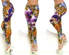 Leggings Leggins party tights skinny Damen Girl farbig wild Print Druck Muster