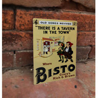 Ah Bisto Gravy VINTAGE ADVERTISING ENAMEL METAL TIN SIGN WALL PLAQUE Kitchen