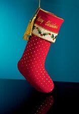 Christopher Radko Merry Christmas Holly Dot Stocking