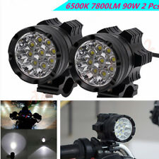 1 Pair Aluminum Alloy 6500K 9LED 90W Motorcycle Headlights Fog Lamps Waterproof