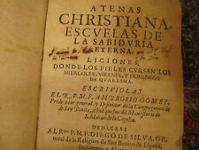 """Atenas Christiana Escuelas"" Christian Lesson Book Pub 1660 355 years old"