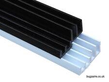 3ft & 6FT VIVARIUM GLASS RUNNERS/TRACK 4MM TOP & BOTTOM  90CM LENGTHS