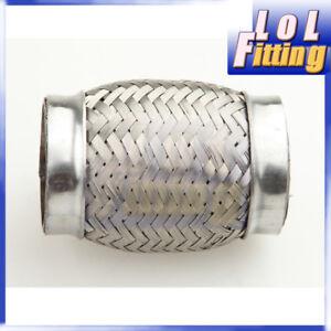 "Exhaust Flex Pipe 2"" Inch (51mm) ID X 4"" L Stainless Steel Coupling Interlock"