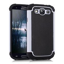 kwmobile Hybrid Schutz Hülle für Samsung Galaxy S3 S3 Neo Weiß Schwarz Case Tpu