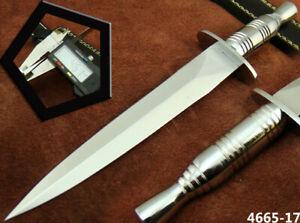 HANDMADE STAINLESS STEEL BRITISH COMMANDO HUNTING DAGGER KNIFE SHARP NEW(4665-17
