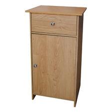 Portland Storage Cupboard, One Drawer, Oak Veneer