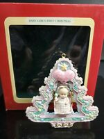 Carlton Cards 1993 Baby GirlsFirst Christmas Rock-A-Bye Ornament  Heirloom