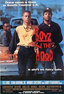 Boyz N The Hood 1991 Vintage Movie Poster A0-A1-A2-A3-A4-A5-A6-MAXI 433