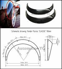2PCS Universal Fender Flare Wheel Arch 90mm Wide set ABS Plastic RX7 FC GT86 GD
