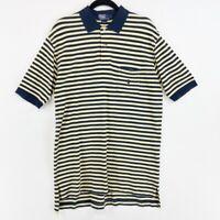 Polo Ralph Lauren Mens Large Shirt Yellow Blue Stripe Short Sleeve Peru Vintage