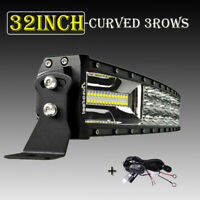 """Autofeel 32inch Curved 2430W LED Light Bar S&F Combo Offroad SUV 6000K 52""""+Wire"""