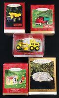 Lot of 5 Hallmark Keepsake Ornaments - Tonka/StarWars/Hopalong Cassidy 1998-2000