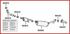LIGNE COMPLET ECHAPPEMENT CHASSIS LONG MITSUBISHI PAJERO 2.8TD V26 & V46 93-00