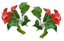 "Two 13"" Palm Grass Artificial Plants Tree Lifelike Leaf Outdoor landsacpe"