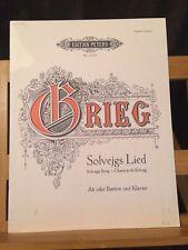 Grieg chanson de solveig Solvejgs Lied partition voix graves alto baryton Peters