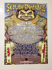 SOUNDWAVE 2014 BRISBANE Promo Poster GREEN DAY AVENGED SEVENFOLD MEGADETH ***NEW