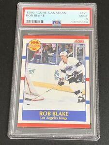 1990 Score Canadian #421 Rob Blake Rookie PSA 9 MINT RC HOF