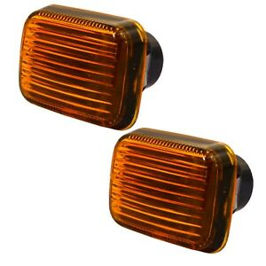 2 x Front Side Indicator Amber Repeater Lens MGF MG TF Rover 200 400 800 AHU2592