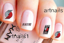 Portland Trail Blazers Basketball Sports Nail Team Fan Water Decal Sticker Salon