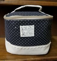 Vintage Design Cute Rustic Makeup Bag with Brush Slots