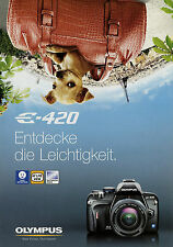 Prospekt Olympus E-420 Digitale Spiegelreflexkamera 4/08 2008 Broschüre brochure