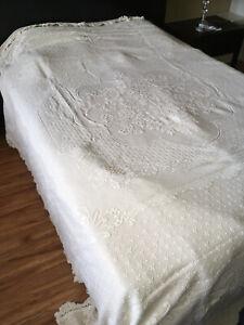 Bates Mill Store Maine Heritage Weavers Abigail Adams Bedspread - Linen - Queen