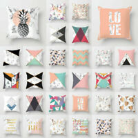 18inch Geometric Polyester Throw Pillow Cases Sofa Cushion Cover Home Decoration