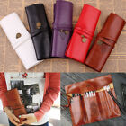 UK PU Leather Cosmetic Make up Brush Bag Case Pen Pencil Pouch Stationery Box