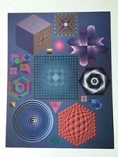 "Victor Vasarely HAND SIGNED Art Print, ""Plural"" (Also Have One With Stamp)"