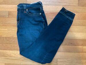Men's True Religion Straight World Tour Tag Dark Wash Denim Jeans Size 32