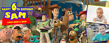 Toy Story Personalised Party Banner Birthday Christening - Upto 6 Photos
