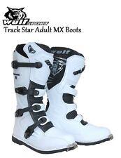 Wulfsport Trackstar Motocross MX Quad Dirtbike Boot Blanco Talla 10