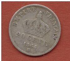 20 CENTIMES 1864 BB STRASBOURG  NAPOLEON  III   112372 EXEMPLAIRES