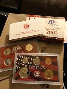 2003 Silver Proof Coin Set San Francisco